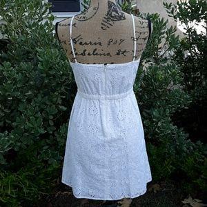Madewell Dresses - Eyelet dress summer spaghetti straps size 2